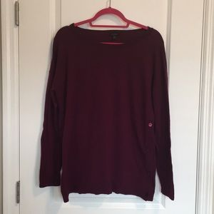 Talbots Maroon Sweater with Side Buttons